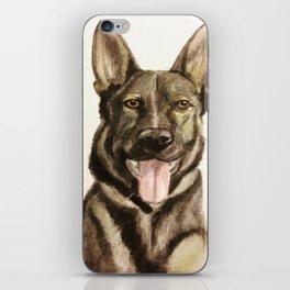German Shepherd Custom Pet Portrait iPhone Skin