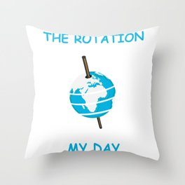 Earth Rotation Scientist or Instructor Gift Throw Pillow