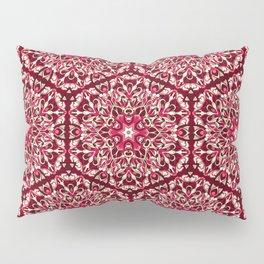 Red geometric Mandala Rich Ornament Pillow Sham