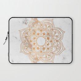 Copper flower mandala - marble Laptop Sleeve