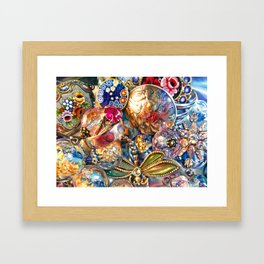 Ruby Liberty Dragonfly Framed Art Print
