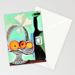 12,000pixel-500dpi - Pablo Picasso - Still Life with Oranges - Digital Remastered Edition Stationery Cards