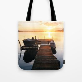 Sunrise at the Cottage Tote Bag
