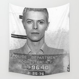 Bowie Mugshot Wall Tapestry