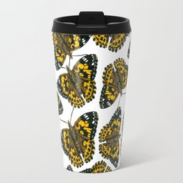 Painted lady butterfly pattern Travel Mug
