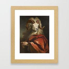 The Count Goat Framed Art Print