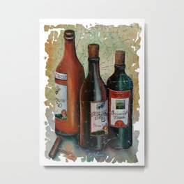 Vintage Georgian Wine Fresco Metal Print