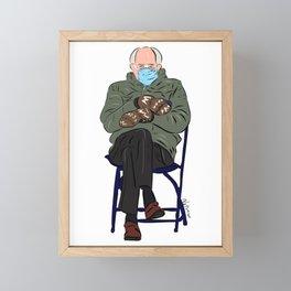 Mittens Bernie Framed Mini Art Print