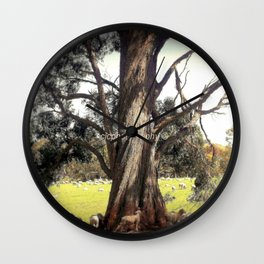 Under the shade of a Coolabah Tree Wall Clock