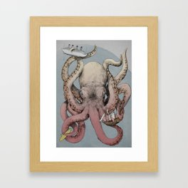 When Cephalopods Attack! Framed Art Print