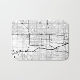 Phoenix Map Gray Bath Mat