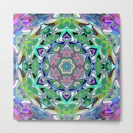 Star Flower of Symmetry 375 Metal Print