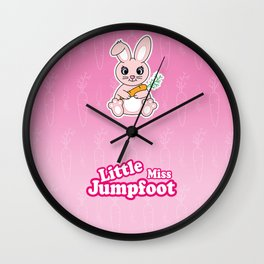 Little Miss Jumpfoot Wall Clock