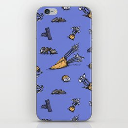 Trendy ultraviolet pattern with cattor and celery iPhone Skin