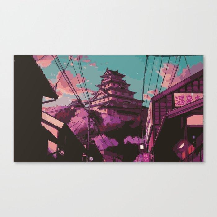 Hasetsu Castle Canvas Print