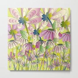 Daisy Floral Pattern 4 Metal Print