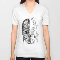half life V-neck T-shirts featuring half life by Anna Proctor