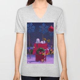 Snoopy Christmas Winter Xmas Unisex V-Neck