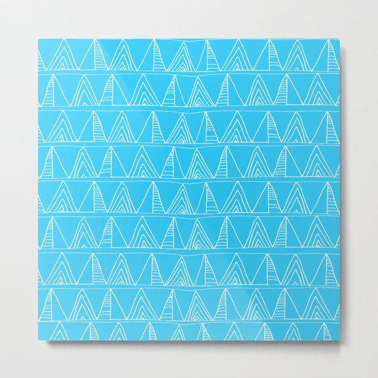Triangles- Simple Triangle Pattern for hot summer days-Mix & Match Metal Print