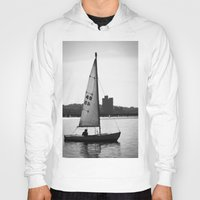sailboat Hoodies featuring Sailboat by Jill Deering Creative