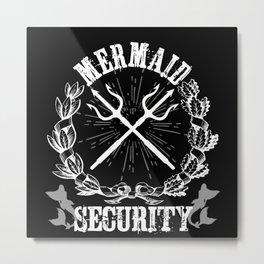 Mermaid Security Merman Merdad Design Motif Metal Print
