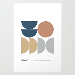 Shapes 03 - Bauhaus / Swiss Design -  Art Print
