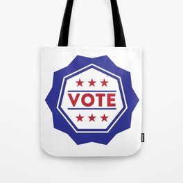 Vote American Presidential Election Badge Tote Bag