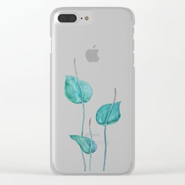 Adder's tongue fern painting Clear iPhone Case