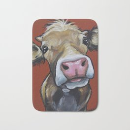 Cow art, Cute colorful cow art Bath Mat