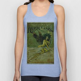 Vintage Parisian Green Fairy Absinthe Alcoholic Aperitif Advertisement Poster Unisex Tank Top