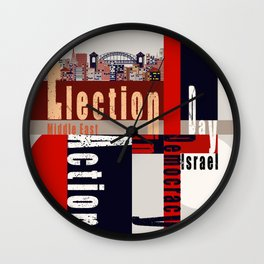 Election Day 5 Wall Clock