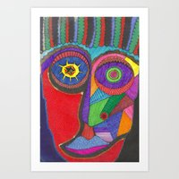 Clown Mask Art Print