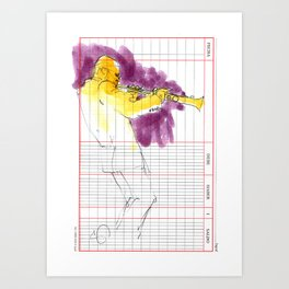 Kenny Garrett sketch Art Print