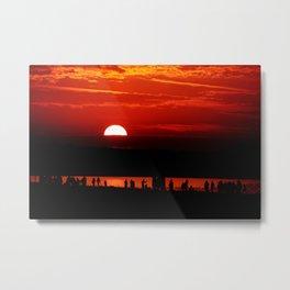 Sunset by the Beach Warnemünde Gemany Metal Print