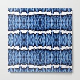 Tie-Dye Shibori Satinete Metal Print