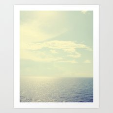 Peaceful Ocean Art Print