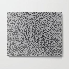 Air Jordan Elephant Print - Grey Metal Print