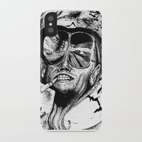 fear and loathing iPhone & iPod Cases featuring Fear and Loathing by Tufty Cookie