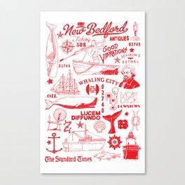 New Bedford Massachusetts Print Canvas Print