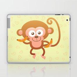 Lovely Baby Monkey Eating Bananas Laptop & iPad Skin
