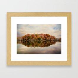 Autumn At Lake LaJoie 4 Framed Art Print