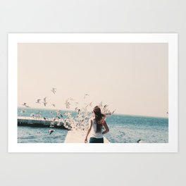 OCEAN GIRL  Art Print