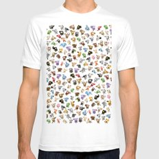 Bean Animals White MEDIUM Mens Fitted Tee