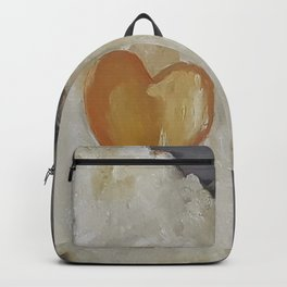 Heart-Shaped Fried Egg, oil painting by Luna Smith, valentine's day, romantic breakfast Backpack