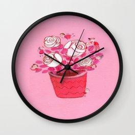 Beautiful White Lilies Wall Clock