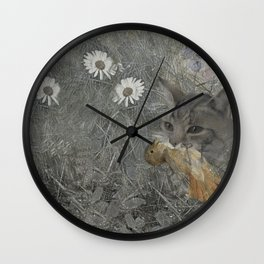 Cat work Wall Clock