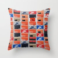 nike Throw Pillows featuring Nike Boxes by I Love Decor