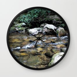 River on the Rocks Wall Clock