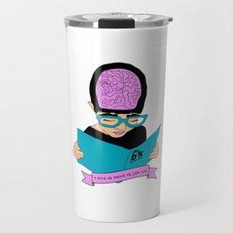 A zine as weird as you are - cream. Travel Mug