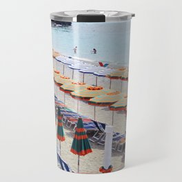 Cinque Terre beach parasols Travel Mug